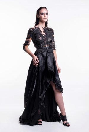 rochie neagra de seara